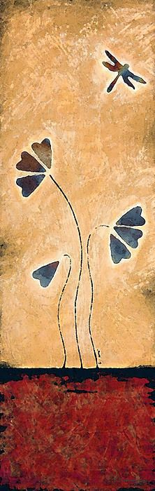 Zen Splendor - Dragonfly Art By Sharon Cummings #Zen #Yoga #Art #Dragonfly #Dragonflies #Dragonflyart #Wallart #Asian #Asiandecor