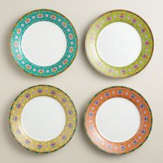One of my favorite discoveries at WorldMarket.com: Shanghai Plates, Set of 4
