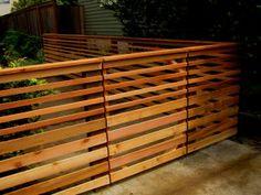 Open Slatted Fence & Gate
