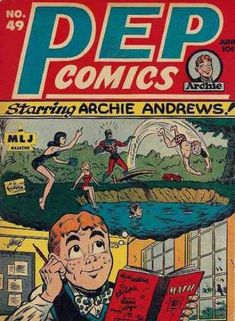 Pep Comics - Starring Archie Andrews - Mlj Magazine - Swimming Hole - Day Dreaming