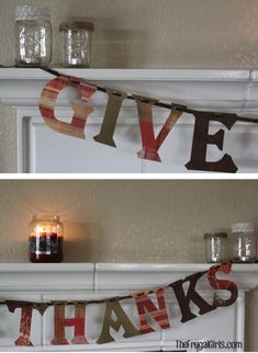 Give Thanks Banner at TheFrugalGirls.com