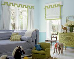 child room, color combos, kid bedroom, playroom, kid rooms, window treatments, shade, window coverings, curtain