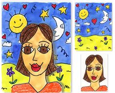 Back to School Portrait Project. Art Projects for Kids - James Rizzi