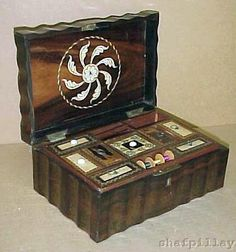 needlework box, sewing box, jewel box, sew box