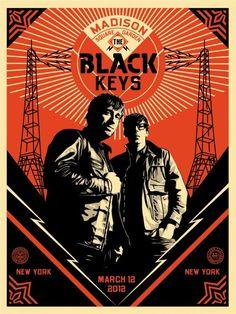 Black Keys tour poster | Designer: Shepard Fairey - http://obeygiant.com