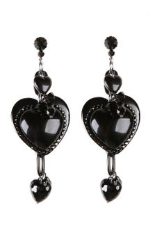tarina tarantino black heart earrings