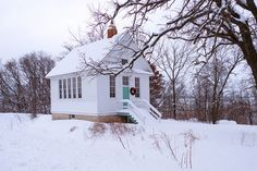 An old country school house outside of Decorah, Iowa