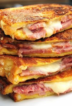 classic ham and cheese melt