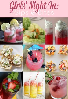 Drinks & Food perfect for a Girls' Night In!
