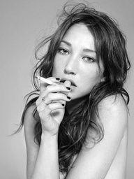 Smoking Girl Long Hair