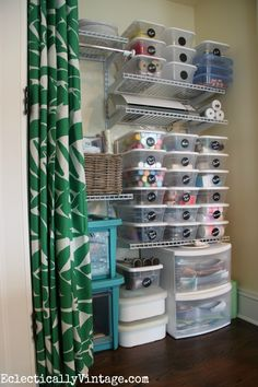 Craft Supply Storage Tips & Tricks to Finally Get Organized! Plus make your own chalkboard labels for pennies!