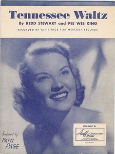 Sheet music tennessee waltz patti page i have this music ♥