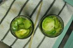Small Batch Pickled Green Tomatoes