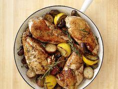 Skillet Rosemary Chicken Recipe : Food Network Kitchen : Food Network