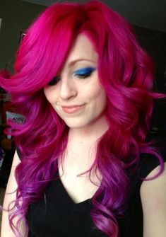 Magenta hair color ideas - oh wow! @Zoe James