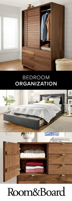 Whether you're furnishing a large master bedroom or looking for a smaller space, we have plenty of beautiful organization solutions.