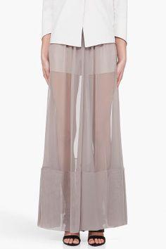 MAISON MARTIN MARGIELA Wide Leg Sheer Pants - ugly color, awkward style.