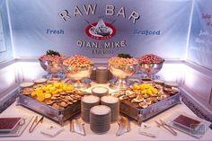 Raw bar oysters wedding