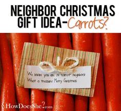 #28 Neighbor Christmas Gift Ideas-Carrots | How Does She