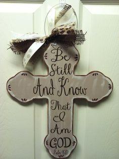 Wooden+Cross+Door+Hanger+by+SoStickyDesigns+on+Etsy,+$25.00