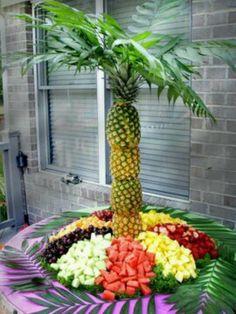 fruit tray displays, fruit tray for party, fruit arrangement, farewell party ideas, fruit tray arrangements, cater idea, parti idea, graduation parties, graduat parti