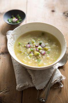 // Leek Barley Soup