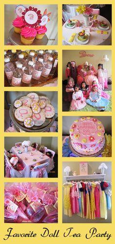 Favorite Doll Tea Party for one little girls 5th Birthday! | Tea Parti, Doll Tea, Princess, 5Th Bday, Birthday Parties, Flower Cakes, Birthday Idea, Parti Idea, Bday Idea