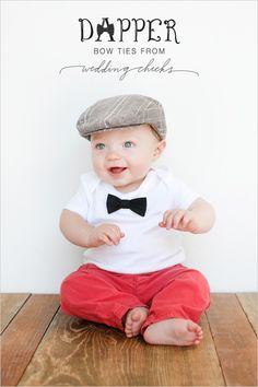 TOO CUTE Baby Bow Tie Onesie
