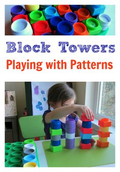 Learn about patterns by building block towers.