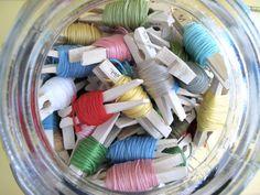 sew, clothespin, embroideri thread, organ, craft idea, stitchi, bonnet, bumble bees, embroidery