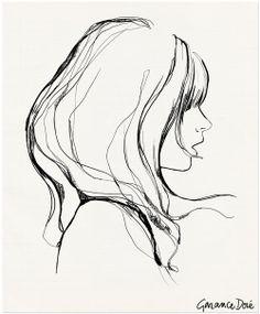 side face sketch