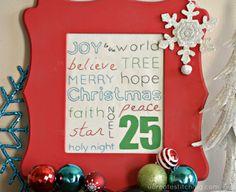 Free Stitchable: Christmas Subway Art at www.u-createcrafts.com