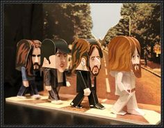 The Beatles - Abbey Road Free Paper Toy Download | PaperCraftSquare.com