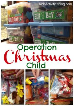 Operation Christmas Child is an amazing part of Samaritan's Purse which allows kids to get involved in good works.