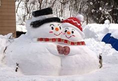 Mr. and Mrs. Snownman