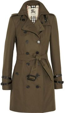 Burberry Mid-length cotton-gabardine trench coat