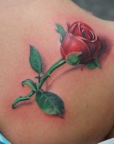 rose tattoo | rose tattoo realistic rose tattoo rose realistic tattoos tattoo ...