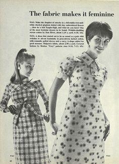 The fabric makes it feminine! #vintage #1960s #fashion #ads