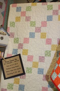 pastels, quilt kit, pastel quilt, baby quilts, 30s fabric, chains, 9 patch quilt, blog, irish chain quilt pattern