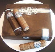 Cigar cake smaller than reveal cake...for Tyler??