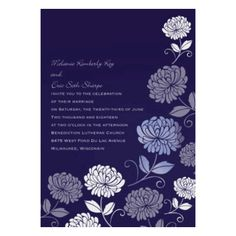 Bright Floral Foil Wedding Invitation by David's Bridal #davidsbridal #weddinginvitations #purpleweddings