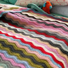 The ripple blanket that started my passion for crochet!