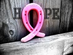 ♥ HOPE ♥  Tough Enough to wear Pink! This would be a great DIY gift idea for horsie friends and family fighting breast cancer or supporting someone who is/has.