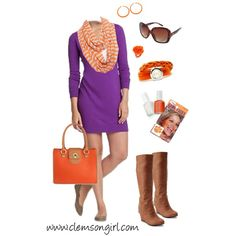 """""""Clemson Gameday Look - Fresh for Fall"""" by clemson-girl on Polyvore"""