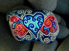 Painted Rock / Firefly Dreams / Sandi Pike Foundas / Cape Cod Sea Stone