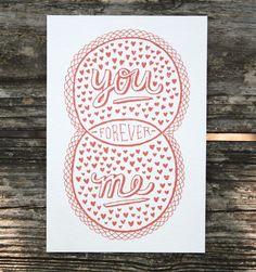 You, Me, Forever ( Venn by Pen Print)