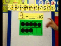Introduction to decomposing numbers to ten - YouTube.  I would start off the school year with a 5 frame, then move to a 10 frame later.