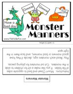 Monster Manners File Folder Game - would be fun for FHE on manners or being kind