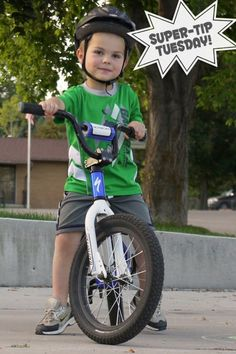 Tips for teaching a child to ride a bike at PagingSupermom.com