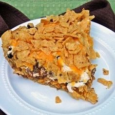 Frito Taco Pie...Quick to throw together, quick to bake. Perfect for busy weeknights.